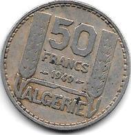 *algeria  50 Francs 1949  Km 92  Vf - Algérie