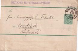 ALLEMAGNE 1889 ENTIER POSTAL/GANZSACHE/POSTAL STATIONERY BANDE JOURNAL DE MAGDEBURG - Entiers Postaux