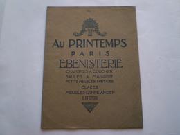 Catalogue Illustré AU PRINTEMPS Paris, ébénisterie, Glaces, Petits Meubls Fantaisie .... 4 Scans - Home Decoration