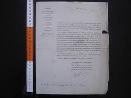 Lettre Entête Ministère Des Travaux Publics NOMINATION Ponts Chaussees 1880 - Diploma & School Reports