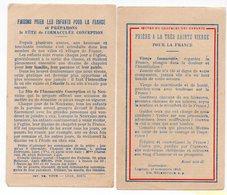 PRIERE A LA TRES SAINTE VIERGE POUR LA FRANCE 1940  MILITARIA  RECTO VERSO - Images Religieuses