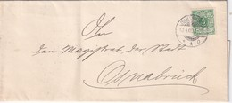 ALLEMAGNE 1900 LETTRE DE OSNABRÜCK - Covers & Documents