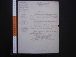 Lettre Entête Ministère Des Travaux Publics NOMINATION Ponts Chaussees 1893 - Diploma & School Reports