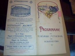 PROGRAMME THEATRE  MUNICIPAL DE  STRASBOURG ANNÈE 1922/1923//16 PAGES - Programs