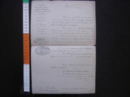 Lettre Entête Ministère Des Travaux Publics NOMINATION Ponts Chaussees 1880 Quatrieme Classe - Diplômes & Bulletins Scolaires