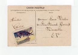 Sur Carte Postale Expo. Coloniale Type Blanc CAD Exposition Coloniale 1906. Vignette Exposition Coloniale. (1092x) - Marcophilie (Lettres)