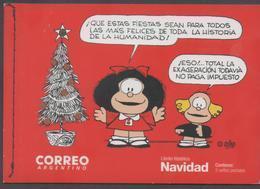 ARGENTINA, 2017, MNH, CHRISTMAS, CHILDREN'S COMICS, MAFALDA, BOOKLET WITH 2 S/SHEETS - Christmas