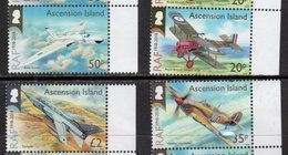 ASCENSION , 2018, MNH,100th ANNIVERSARY OF THE RAF, AIRFORCE, PLANES, 4v - Airplanes