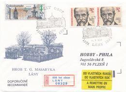 I0449 - Cecoslovacchia (1992) Lany: 600 Anni Di Villaggio (etichetta R Occasionale!) Tomba T. Masaryk - Celebrità