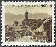 Liechtenstein 1949: Kirche Bendern (5c. Braun) Zu.231 Mi.284 Yv 246 ** Postfrisch MNH (Zumstein CHF 40.00) - Liechtenstein