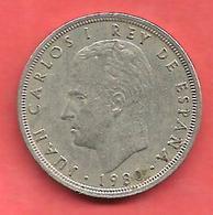 5 Pesetas , ESPAGNE , Cupro-Nickel , 1980 ( 81 ) , N° KM # 817 , N° Y134 - 5 Pesetas