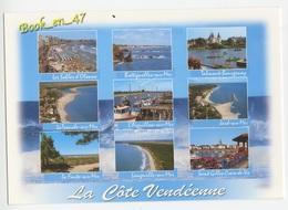 {75898} 85 Vendée , La Côte Vendéenne , Multivues ; Saint Gilles Croix De Vie Les Sables D' Olonne Longeville Sur Mer - Francia