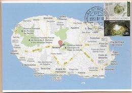 CARTE MAXIMUM - MAXICARD - MAXIMUMKARTEN - MAXIMUM CARD - PORTUGAL (AÇORES) - ALGAR DO CARVÃO - CARTE DE ÎLE TERCEIRA - Géographie