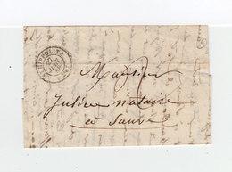 Sur Lettre AC CAD St Hippolite 1848. Taxe Manuscrite. Cachet Destination: Sauve. (1094x) - 1801-1848: Précurseurs XIX