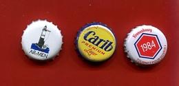 """6-19 -  3 Capsules De Bière  Toutes Différentes """" Pour Collection - Beer"""