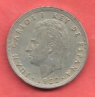 5 Pesetas , ESPAGNE , Cupro-Nickel , 1982 ( M ) , N° KM # 823 , N° Y128a - 5 Pesetas