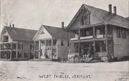 West Fairlee Vermont - Street Scene - Horse - VG Condition - Unused - 2 Scans - United States