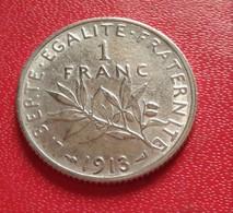 FRANCE :1 FRANC SEMEUSE 1913 SUP  (B8-08) - France