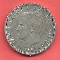 5 Pesetas , ESPAGNE , Cupro-Nickel , 1983 ( M ) , N° KM # 823 , N° Y128a - 5 Pesetas