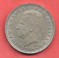 5 Pesetas , ESPAGNE , Cupro-Nickel , 1984 ( M ) , N° KM # 823 , N° Y128a - 5 Pesetas