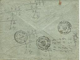 1896 ENVELOPPE SEULE CONVOYEUR CHATELLERAULT  De Tournon St Martin à St Pierre De Maillé Vienne +Timbre Oblit. - Marcophilie (Lettres)