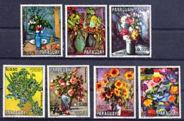 PARAGUAY 1970, Yv.  1089/95, Tableaux De Fleurs, 7 Valeurs, Neufs / Mint. R275xB - Arts