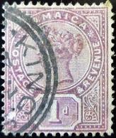 1889 Jamaïque Yt 27 .  Queen Victoria . Oblitération KING - Jamaïque (...-1961)