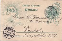 ALLEMAGNE 1900 ENTIER POSTAL/GANZSACHE/POSTAL STATIONERY CARTE DE DIEPHOLZ - Entiers Postaux
