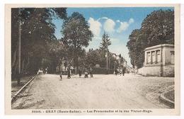 Gray - Les Promenades Et La Rue Victot Hugo - Gray