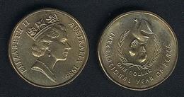 Australien, 1 Dollar 1986, Jahr Des Friedens, UNC - Dezimale Münzen (1966-...)