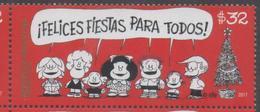 ARGENTINA, 2017, MNH, CHRISTMAS, CHILDREN'S COMICS, MAFALDA, 1v - Christmas