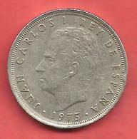 25 Pesetas , ESPAGNE , Cupro-Nickel , 1975 ( 79 ) , N° KM # 808 , N° Y129 - 25 Pesetas