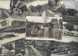 Lot 1611 De 10 CPA Gares Intérieures Avec Trains Ou Sans Déstockage Pour Revendeurs Ou Collectionneurs - Cartes Postales