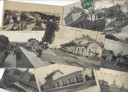 Lot 1612 De 10 CPA Gares Intérieures Avec Trains Ou Sans Déstockage Pour Revendeurs Ou Collectionneurs - Cartes Postales