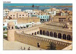 """TUNISIE- SOUSSE La Mosquée Et Le Port (Timbre Stamp """"République Tunisienne Rouget De Roche (faune Marine) * PRIX FIXE - Tunisie"""