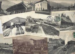 Lot 1613 De 10 CPA Gares Intérieures Avec Trains Ou Sans Déstockage Pour Revendeurs Ou Collectionneurs - Cartes Postales
