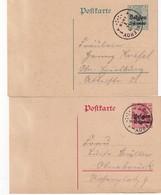 ALLEMAGNE OCCUPATION BELGE ENTIER POSTAL/GANZSACHE/POSTAL STATIONERY LOT DE 2 CARTES - Occupation 1914-18