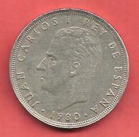 25 Pesetas , ESPAGNE , Cupro-Nickel , 1980 ( 81 ) , N° KM # 818 , N° Y135 - 25 Pesetas