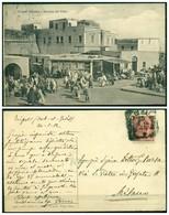 CARTOLINA - V8578 COLONIE ITALIANE TRIPOLITANIA 1912 Cartolina Illustrata (Tripoli Mercato Del Pane) Affrancata - Libia