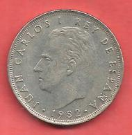 25 Pesetas , ESPAGNE , Cupro-Nickel , 1982 ( M ) , N° KM # 824 , N° Y129a - 25 Pesetas