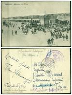 CARTOLINA - V8580 COLONIE ITALIANE TRIPOLITANIA 1913 Cartolina Illustrata In FRANCHIGIA (Tripoli Mercato Del Pane) - Libia