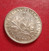FRANCE :1 FRANC SEMEUSE 1920 SPL  (B8-09) - France