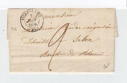 Sur Lettre AC Pour Salon Cachet Pierrelatte 1850. Cachet Marseille. Taxe Manuscrite. (1096x) - Marcophilie (Lettres)