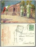 CARTOLINA - V8589 COLONIE ITALIANE TRIPOLITANIA 1913 Cartolina Illustrata (Tripoli Entrata Al Palazzo Del Comando) - Libia