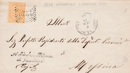 Un Annullo Per Paese Spadafora S. Martino (Messina) Numerale  A Punti - 1861-78 Vittorio Emanuele II