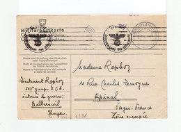 Carte D'interné Militaire En Suisse 1940. Militärpostkarte. Cachet Camp De Balterswil. Cachets Wehrmacht. (1097x) - Marcophilie (Lettres)