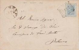 Un Annullo Per Paese Menfi  (Agrigento) Numerale  A Punti - 1861-78 Vittorio Emanuele II