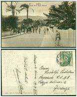 CARTOLINA - V8624 COLONIE ITALIANE CIRENAICA 1939 Cartolina Illustrata (Derna Viale Duca Degli Abruzzi) Affrancata - Libia