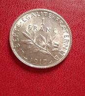 FRANCE :1 FRANC SEMEUSE 1917 SPL  (B8-10) - France