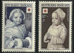 """FR YT 914 & 915 """" Croix-Rouge """" 1951 Neuf* - France"""